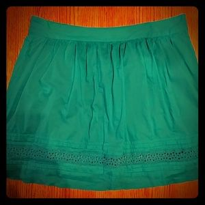 ❤LOFT❤  Teal Cotton Skirt (14)
